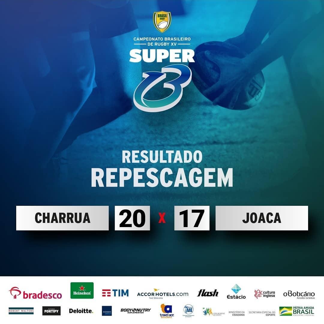 Charrua vence Joaca na repescagem Super 13/Taça Tupi e segue na elite para 2020