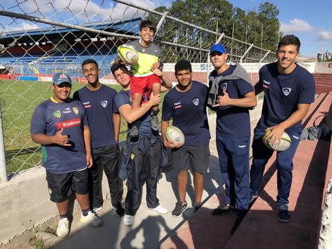 Atletas do programa de Detecção de Talentos da CBRu realizam atividade com jovens de Projeto Social da Federação Paulista de Futebol