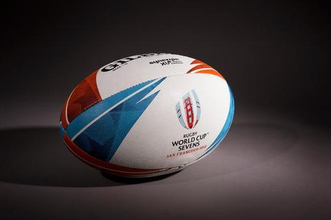 Gilbert lança a bola oficial da Copa do Mundo de Rugby Sevens de 2018