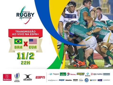 Brasil treina nos Estados Unidos para segunda partida do Americas Rugby Championship