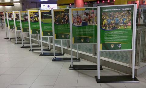 Linha 4-Amarela recebe a exposição 'O Rugby Formando Caráter'