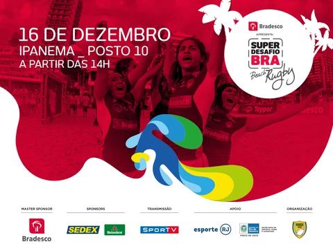 Super Desafio BRA de Beach Rugby será realizado em Ipanema nesse sábado
