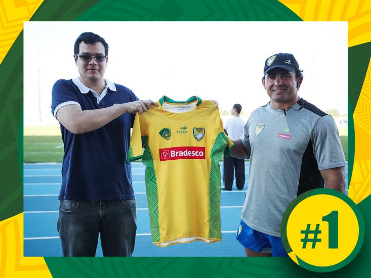 Número 1! Primeiro comprador da camisa dos Tupis mora em Macapá