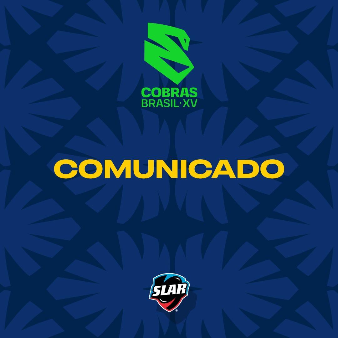 Comunicado Cobras Brasil XV
