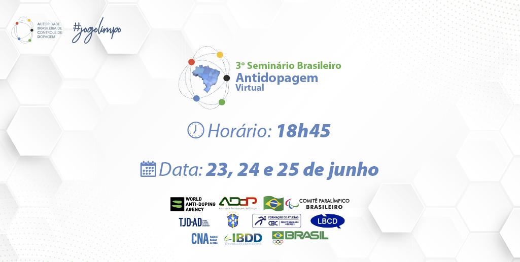 ABCD realiza 3º Seminário Brasileiro Antidopagem Virtual com presença da CBRu