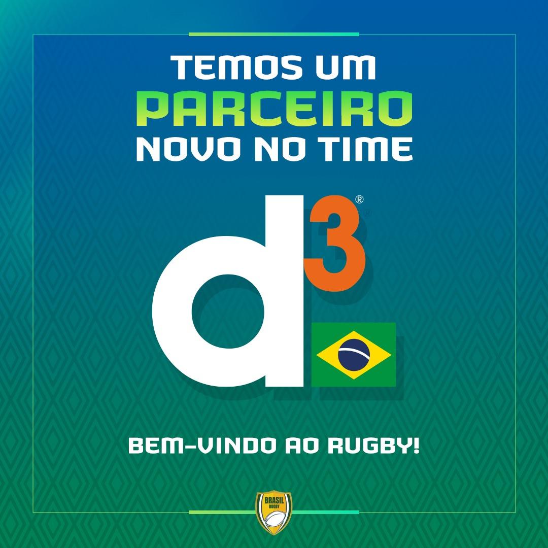 Confederação Brasileira de Rugby e d3 fecham parceria até julho de 2022