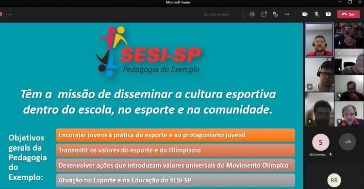 Representantes de clubes e da CBRu participam de webinar do SESI