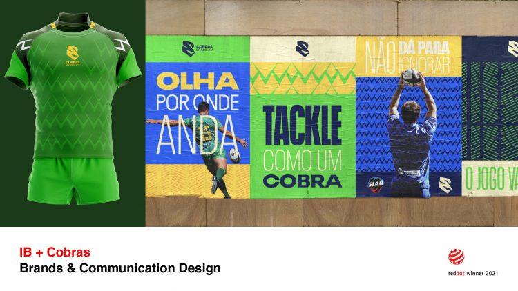 Identidade visual da franquia Cobras Brasil XV vence prêmio de design alemão