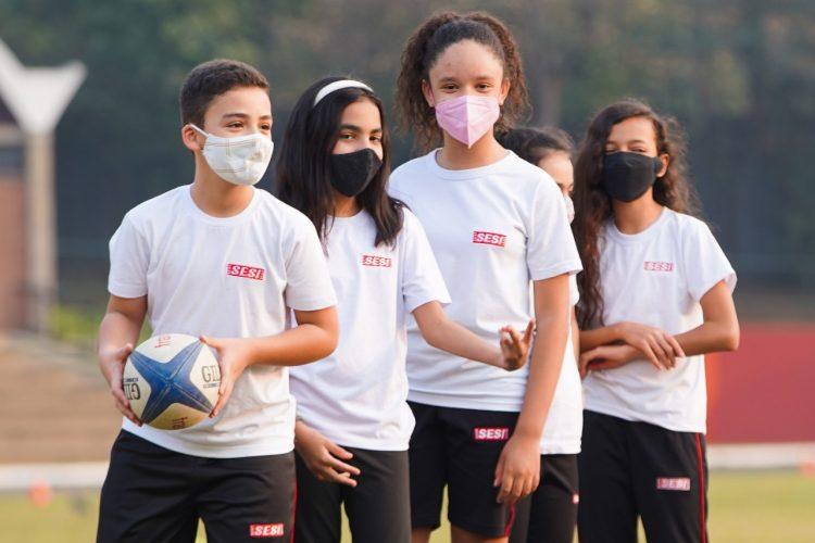 Sesi inaugura atividades de rugby para crianças e adolescentes em Campinas